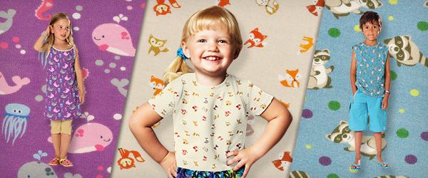 Tecidos de malha Jersey com desenhos de animais