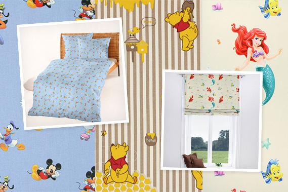 Tkaniny z motywami Disneya