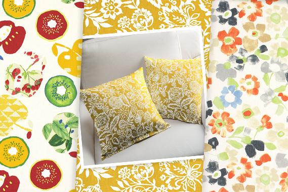 Novas coleções de tecidos de decoração
