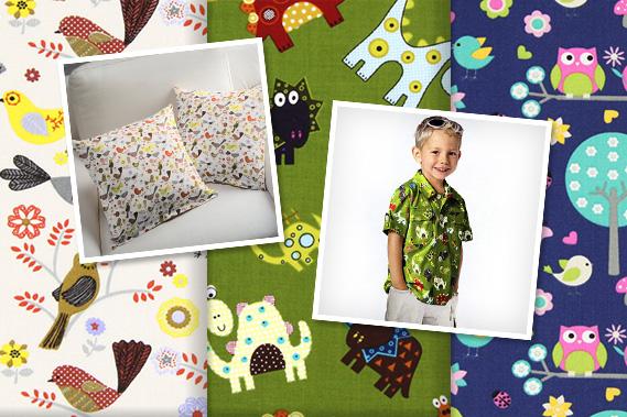 Tecidos para criança com animais
