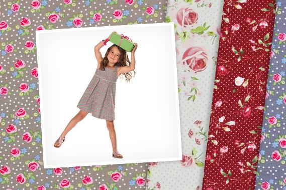 Tkaniny bawełniane z motywami róż