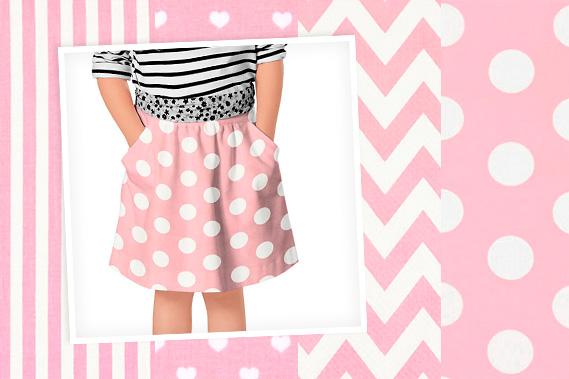 tessuti in cotone rosa con stampe
