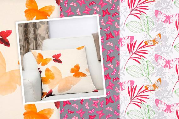 Tecidos com borboletas