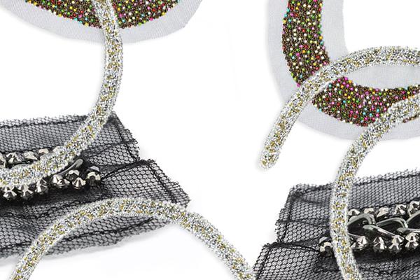 guarnizioni di perline e bijoux