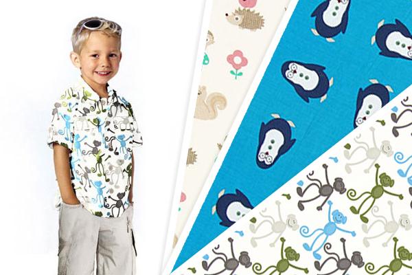 Tecidos de algodão com desenhos de animais