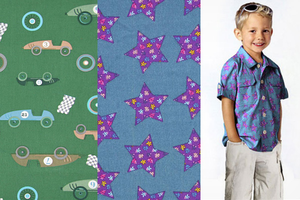Cotton fabrics bearing children's motifs