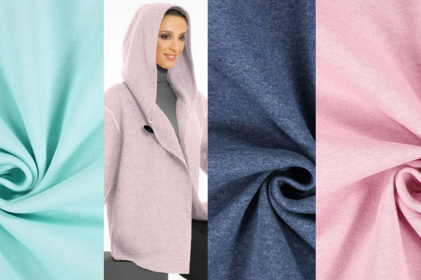 Texturised sweatshirt fabric in new colours