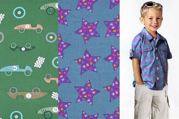 Tissus de coton avec des motifs enfants
