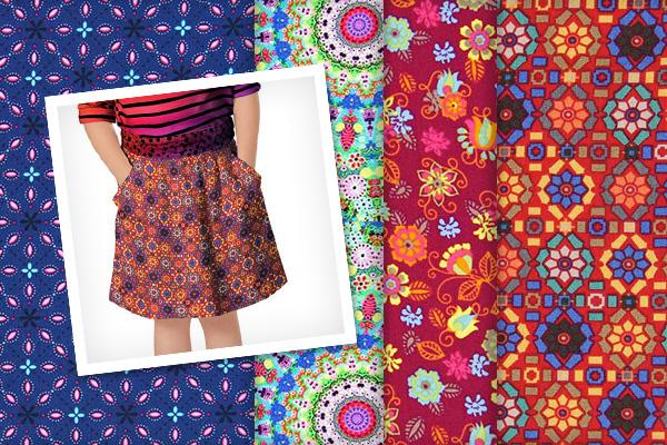 Floral cotton fabrics