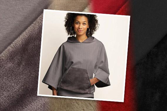 Sweatshirt mit flauschiger Abseite