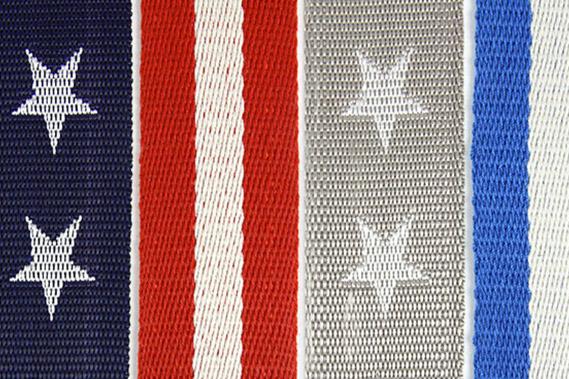 Belt webbing with motifs