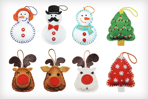 Knutselsets voor kerstdecoraties