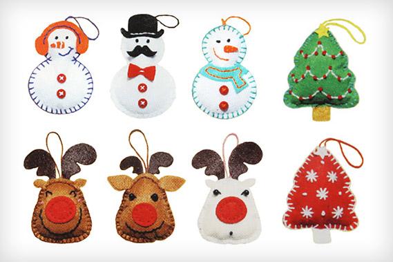 Conjuntos para lavores para decoração de Natal
