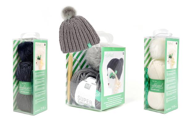 kit per lavorare a maglia e all'uncinetto