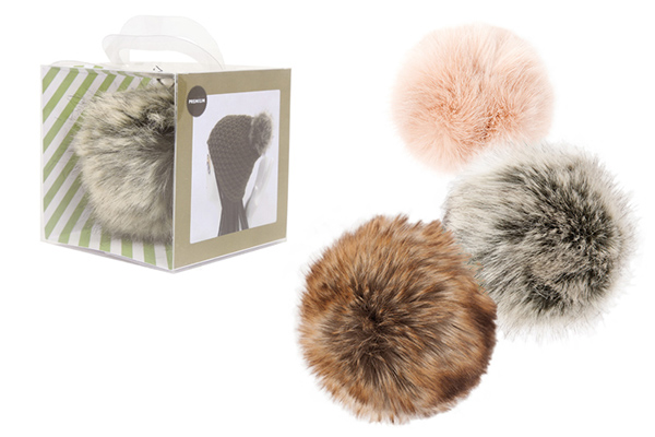 pompon in pelliccia ecologica