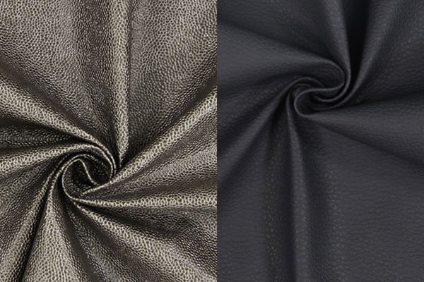 Leather-look upholstery fabrics