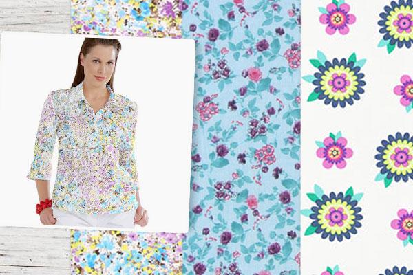 Telas con diseño floral