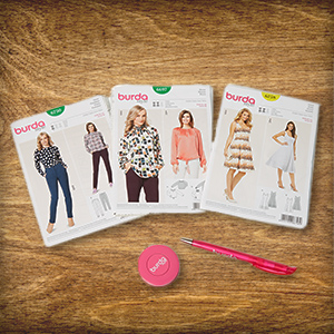 In the Advent Calendar today: 3 x 1 pattern set of burda style dressmaking patterns