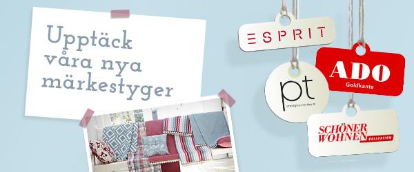 Upptäck de nya märkena hos tyg.se