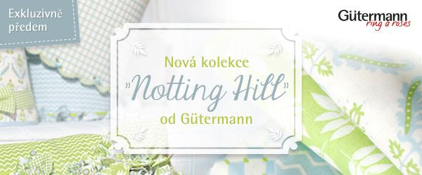 Nyní exkluzivně u stoffe.de: Nová Gütermann kolekce Notting Hill
