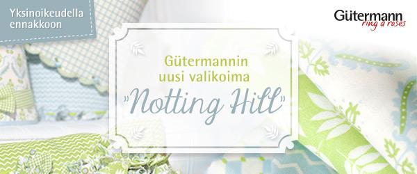 Yksinoikeudella ennakkoon kankaita.com:ssa: Uusi Gütermann-mallisto Notting Hill