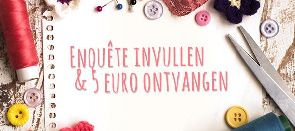 Enquête invullen & 5 euro ontvangen