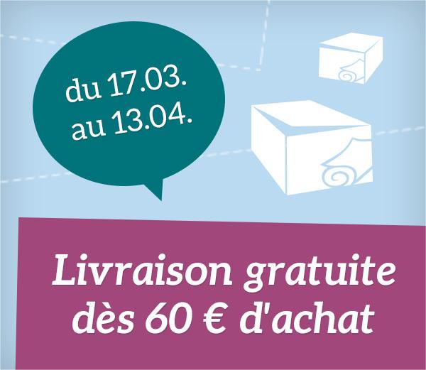 Réduction de la limite des frais d'expédition pour les livraisons en France en tissus.net