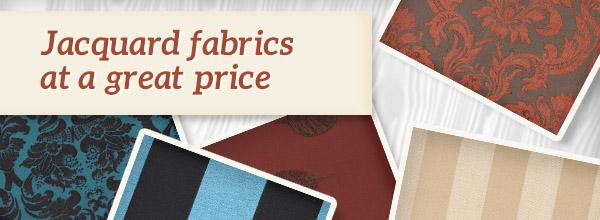 Heavily discounted: Jacquard fabrics