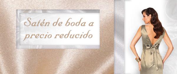 ¡Comprar enseguida! ¡El satén de novia en todos los colores está reducido en telas.es!