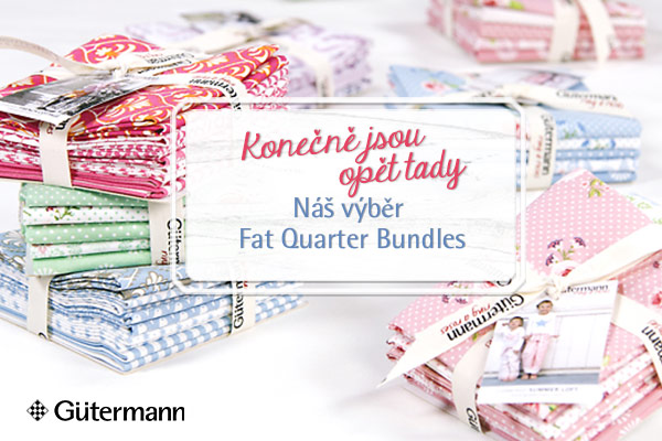 Perfektně spolu harmonují! Fat Quarter Bundles od Gütermann