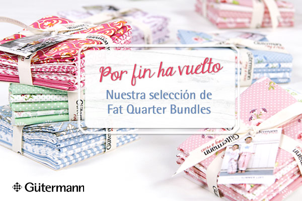 ¡Harmonizan perfectamente! Fat Quarter Bundles de Gütermann