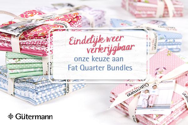 Passen perfect bij elkaar! Fat Quarter Bundles van Gütermann