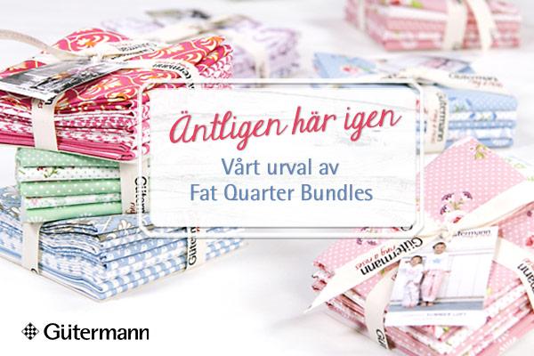 Harmoniserar perfekt! Fat Quarter-buntar från Gütermann