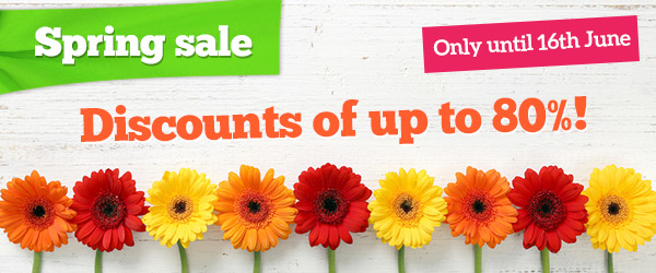 Spring Sale – only till 16th June
