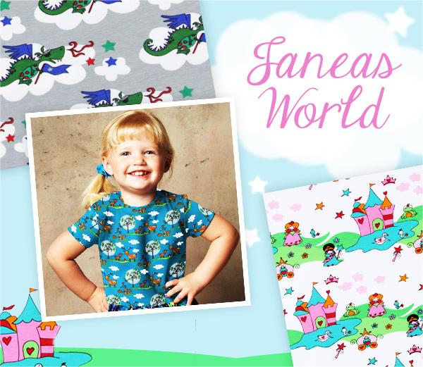 Tutustu nyt Janeas World – suloisia lastenkankaita pikkunaperoille