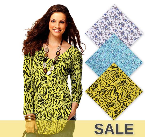 Sírvase rápidamente: Telas nuevas en la tienda para jerseys a precios reducidos