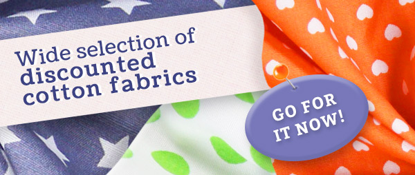 Heavily discounted: Cotton fabrics from £3.50