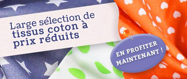 Prix radicalement réduits : Tissus en coton à partir de 4 €
