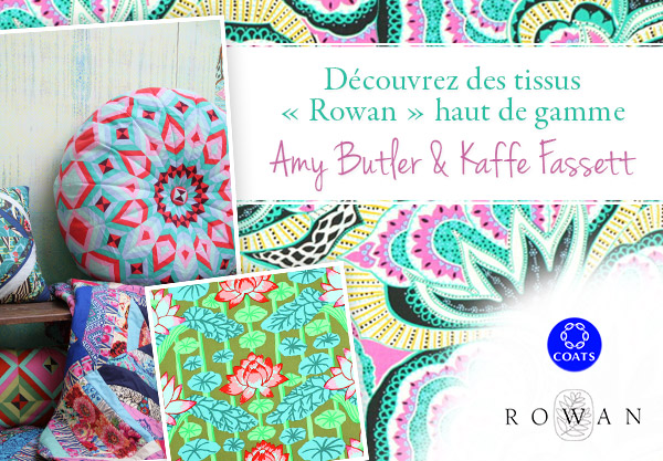 Amy Butler et Kaffe Fassett - maintenant sur tissus.net