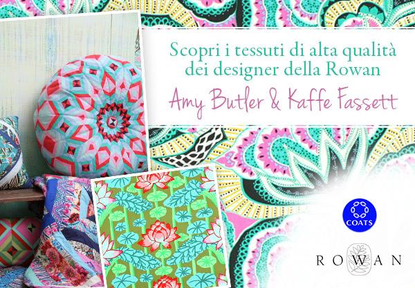 Amy Butler e Kaffe Fassett - adesso su tessuti.com