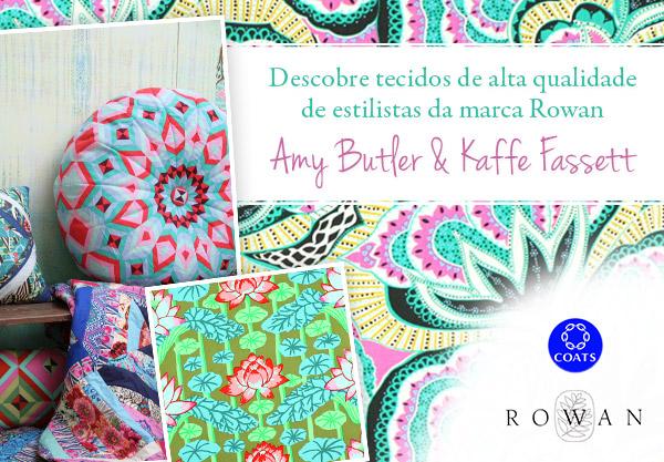 Amy Butler e Kaffe Fassett - agora na tecidos.pt