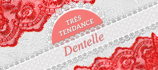 Dentelles estivales - une superbe sélection sur  tissus.net