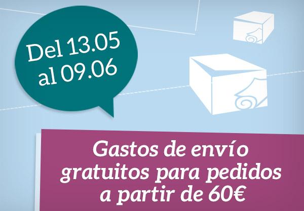 Gastos de envío gratuitos para pedidos a partir de 60€