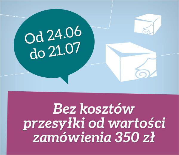 Obniżka wymaganej wysokości zamówienia, od której wysyłki w Polsce są realizowane bez żadnych opłat