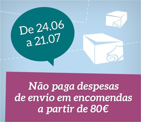 Redução do limite das despesas de envio em entregas para Portugal