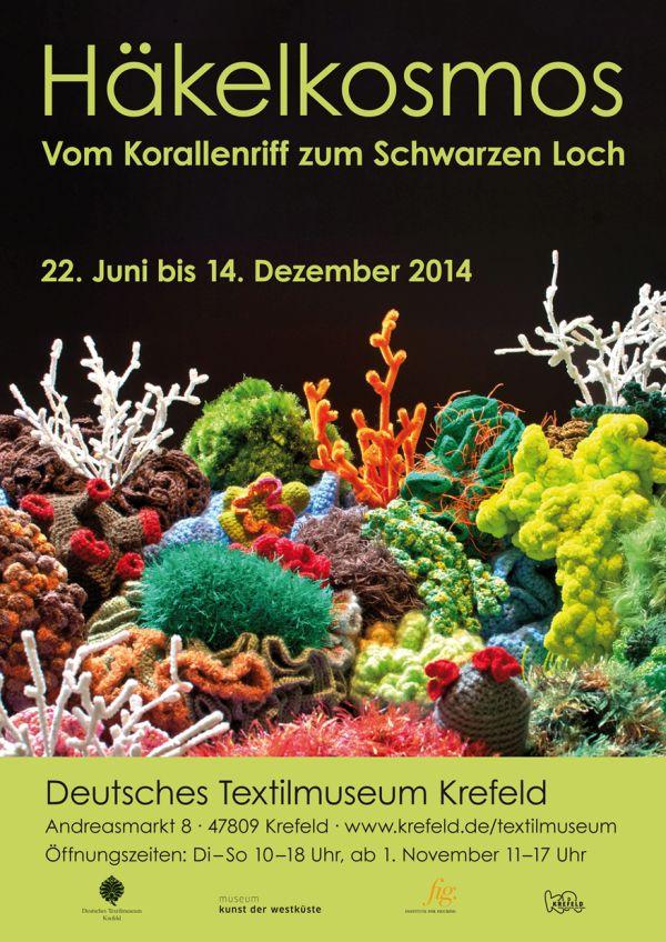 """Kulturtipp für Krefeld: """"Häkelkosmos – Vom Korallenriff zum Schwarzen Loch"""" im Deutschen Textilmuseum Krefeld"""