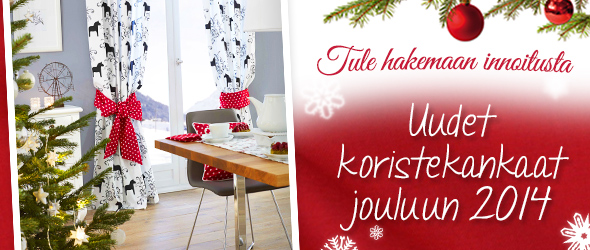 Joulu on jo ovella... suunnittele koristeita jo nyt