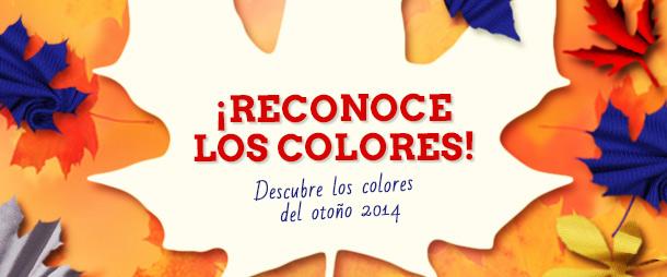 ¡Mostaza, azul, rojo, plateado y negro: estos son los colores del otoño de 2014!