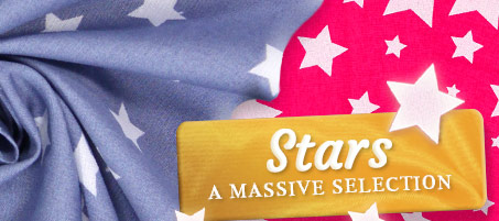 Huge range of fabrics with star motifs