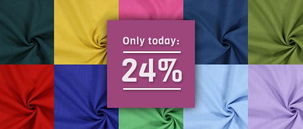 Only today: 24% off on Linen Medium myfabrics.co.uk